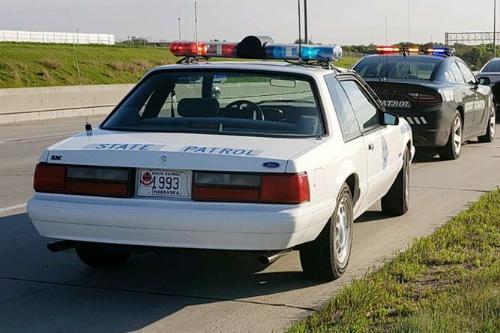 Nebraska State Patrol 1993 Ford Mustang Still In Service