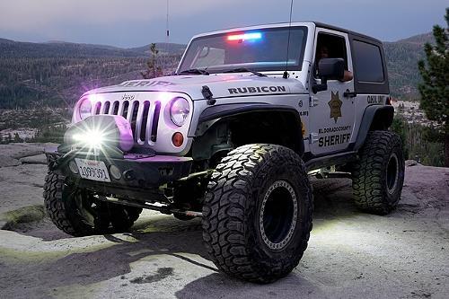 El Dorado County California Sheriff Jeep's