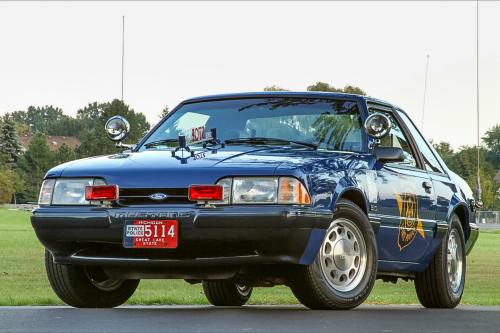 Retired & Restored Michigan State Police 1992 Ford Mustang