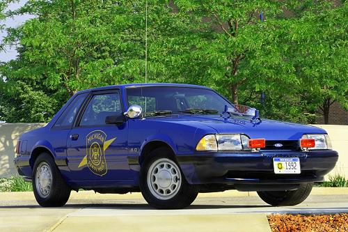 The Michigan State Police Ford Mustang