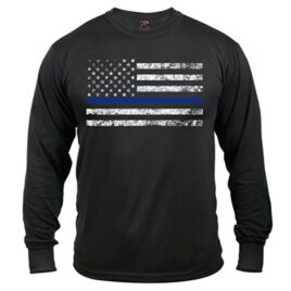 Blue Lives Matter Flag Long Sleeve T-Shirt