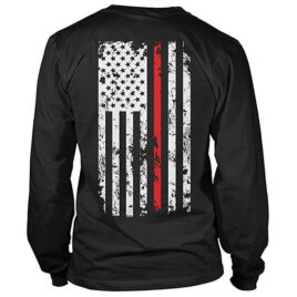 Firefighter Thin Red Line Flag Long Sleeve T-Shirt