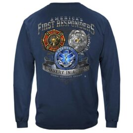 First Responders Bravery In Action Longsleeve T-Shirt