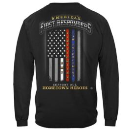 First Responders – Support Our Hometown Heroes Long Sleeve T-Shirt