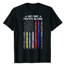 No One Fights Alone Flag T-Shirt