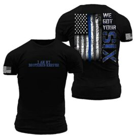 We Got Your Six Thin Blue Line Flag T-Shirt